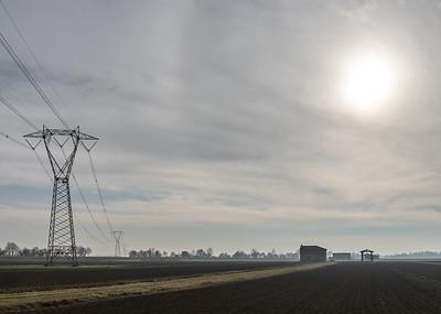 Power Lines - Crevalcore, Bologna, Italy - January 9, 2019