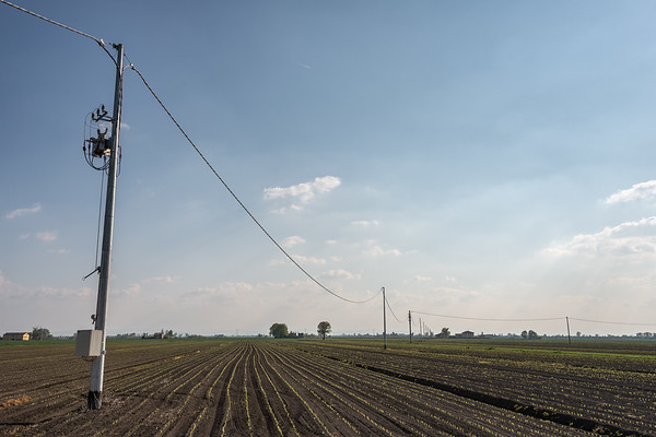 Power Lines - Bagnolo in Piano, Reggio Emilia, Italy - April 15, 2019