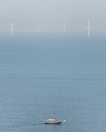 Distant Wind Turbines - Store Klinteskov, Borre, Møn, Denmark - August 13, 2021