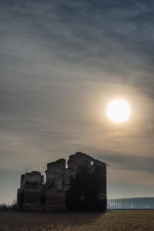 Ruin - Correggio, Reggio Emilia, Italy - January 13, 2019