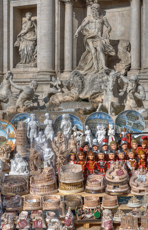 Souvenirs - Trevi Fountain, Rome, Italy - November 6, 2010