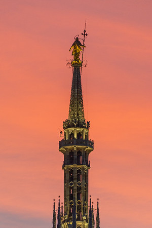 Madonnina at Twilight - Milan, Italy - December 22, 2018