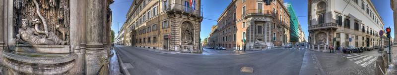 Quattro Fontane (the Four Fountains) - Rome, Italy - November 6, 2010
