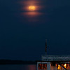 Super Moon over the Mark Twain Riverboat