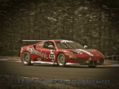 Scott Tucker in a Ferrari F430 during the 2008 Ferrari Challenge race at Thunderbolt Raceway (NJ Motorsports Park)
