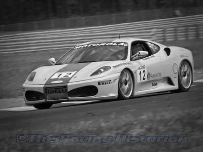 Michael Louli in a Ferrari F430 during the 2008 Ferrari Challenge race at Thunderbolt Raceway (NJ Motorsports Park)