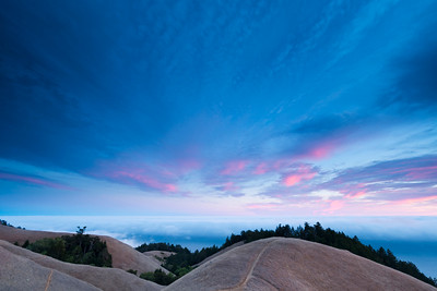 Summer sunset on Mt.Tam