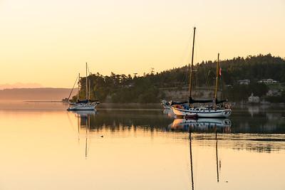 Sailing Ships at Sunrise.