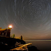 Star trails over Eagle Harbor Lighthouse 01