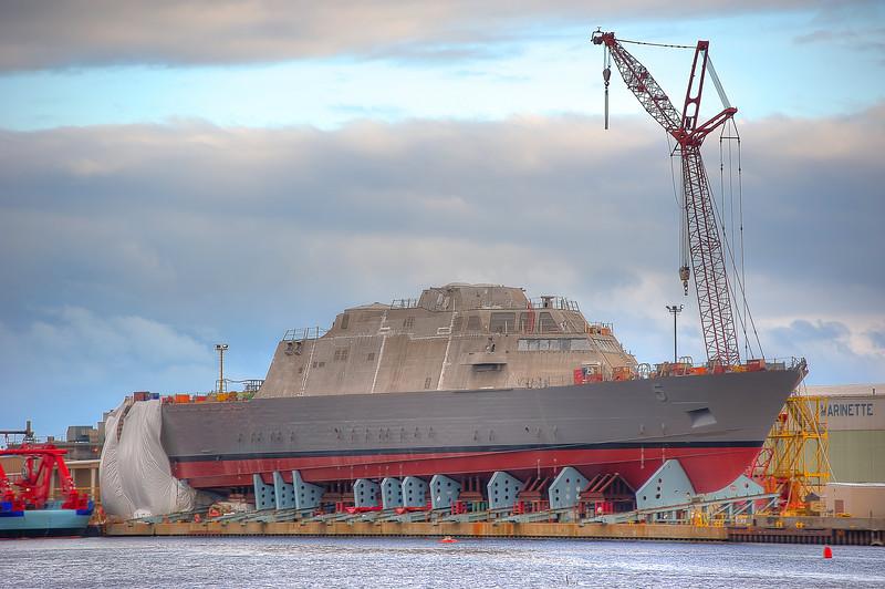 USS Milwaukee (LCS-5) under construction