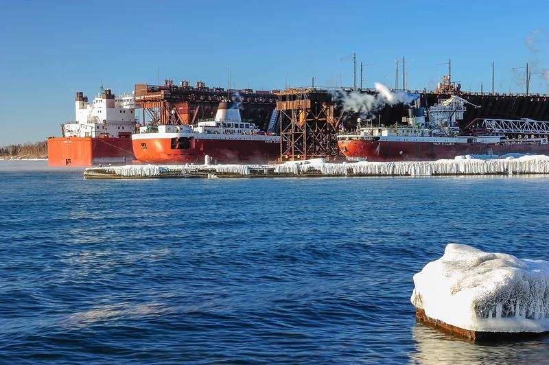 Trio of Great Lakes Fleet ships 01
