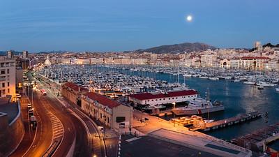 Vieux Port (depuis le fort Saint-Jean), Marseille, France