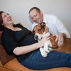 Pregnancy portraits with their 'first born', in Avon, Colorado.