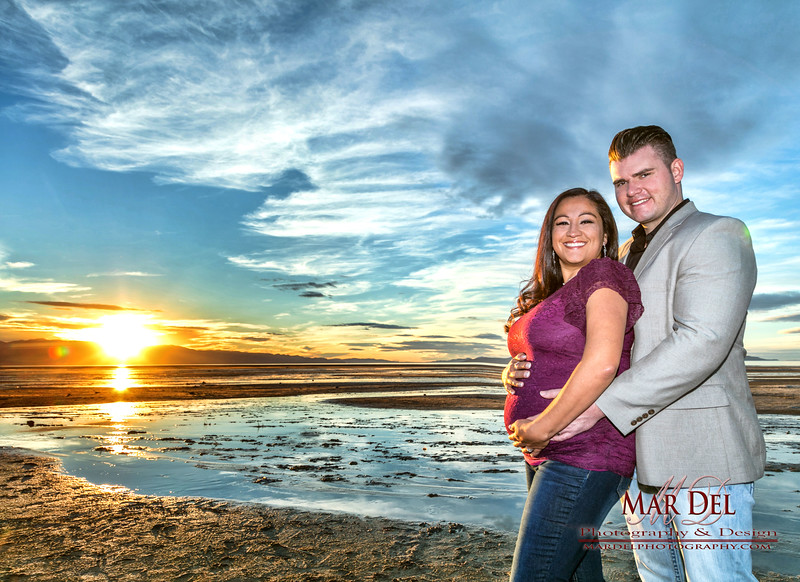 Sunset Pregnancy Portrait