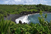 Honokalani Black Sand Beach - at Wai'anapanapa State Park - Northeast island region
