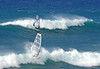 Wind Surfers at Ho'okipa Beach - North Shore region