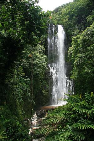 Wailua Falls - dropping about 80 ft. (24 m) - Southeast island region
