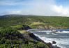 From Kepio Point - near the village of Kaupo - viewing up the southeastern flank or slope of Mauna Haleakala - Southeast island region