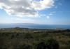 From the southwestern flank of Mauna Haleakala Volcano - across the Pu'u Naio and Pu'u o Kanaloa cinder cones, to Cape Kina'u - with the adjacent, Ahihi Bay and Pu'u Ola'i cinder cone (at Makena State Park) - and out across the Alalakeiki Channel, about 7 mi. (11 km) to Koho'alawe Island, and Molokini Crater along the way - South Maui region