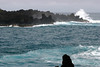 Across Pa'iloa Bay - to the waves breaking on the volcanic rock at Pukaulua Point - Northeast island region