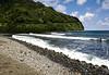 Honomanu Beach - viewing northward towards Moiki Point - Northeast island region