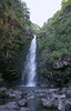 """Alele Falls - a """"chute"""" waterfalls dropping vertically, about 55 ft. (17m) over the volcanic rock ledge - Haleakala National Park - Southeast island region"""