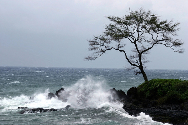 """Wailea Point - hours before the torrential downpour and rare approaching """"leeward"""" storm - South Maui region"""
