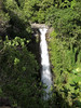 "Shadow across Makahiku Falls -  a ""chute"" waterfalls, with a 185 ft. (56 m) vertical drop - from along the Pipiwai Trail - Haleakala National Park - Southeast island region"