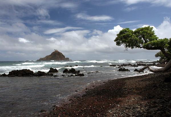 From Koki Beach - out to Alau Island (a seabird sanctuary) - Southeast island region (just S. of Hana)