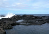 Beyond the Olivine Pools - to the wave crashing upon the extrusive basaltic igneous rock - Central Maui region