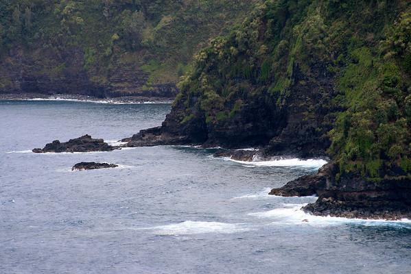 Coastline along the Nua'ailua Bay - Northeast island region