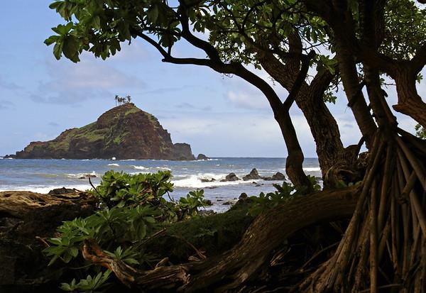 From the Hala Trees at Koki Beach - out to Alau Island (a seabird sanctuary) - Southeast island region