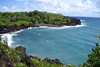 Pa'iloa Bay  - with the water just breaking at Honokalani Beach - at Wai'anapanapa State Park - Northeast island region