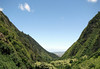 Down the Iao Valley from the Pu'u Kukui Crater - Mauna Kahalawai Volcano - to the fertile isthmus beyond - West Maui region