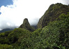 Iao Needle - rises 1,200 ft. (366 m) from the lush valley floor of the Pu'u Kukui Crater - the Mauna Kahalawai (West Maui Mountains) Volcano - Iao Valley State Park - Central Maui region