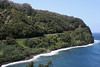Across Honomanu Bay (west shoreline) - out to Moiki Point - Northeast island region