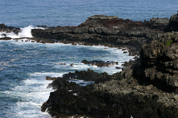 Waves breaking at Nakalele Point - the northern most point on the island of Maui
