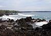 Beyond the volcanic shoreline at La Perouse Bay - across to Cape Hanamanioa, along the distal horizon - South Maui region
