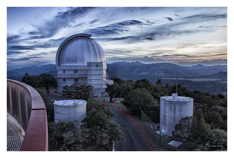 Sunset Over the 82-inch Otto Struve Telescope