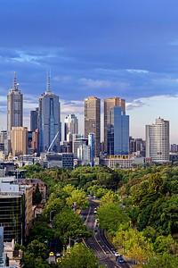 St Kilda Road Cityscape, Melbourne