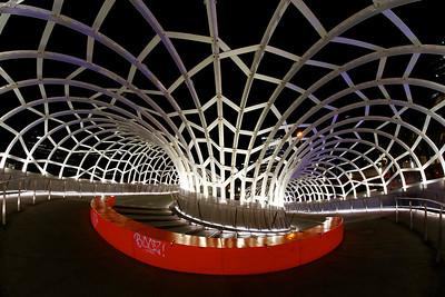 Inside Webb Bridge, Docklands, Melbourne City, CBD, Melbourne