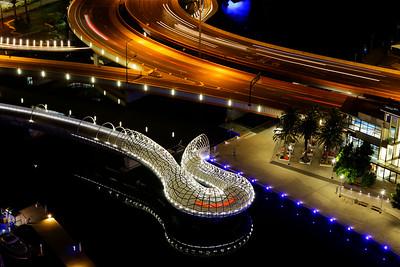 Night Webb Bridge, Docklands, Melbourne City, CBD, Melbourne