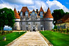 Fantasy view of the Chateau de Monbazillac, France