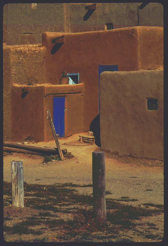 Taos Pueblo Blue Doors 1991