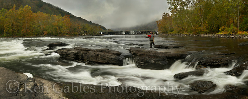 Sandstone Falls on the New River, National Scenic Riverway, Raleigh County West Virginia