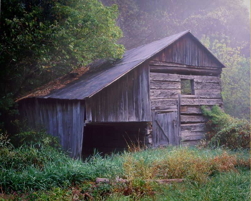 "Old Barn in West Virginia, The original was on a 2-1/4 transparency, scanned and ""adjusted"" in Photoshop"