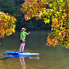 Paddleboarding at Desoto State Park