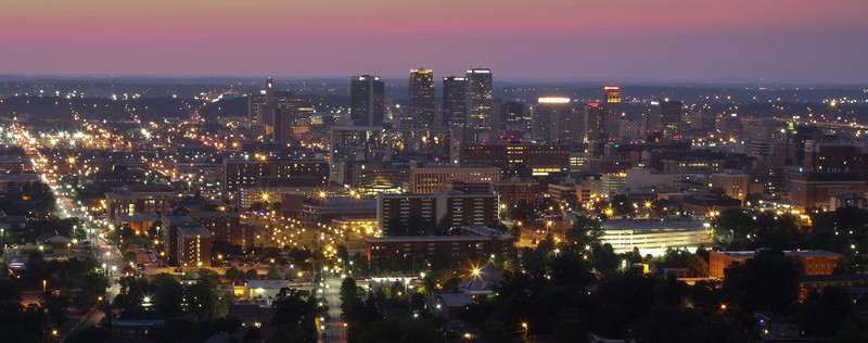 The beautiful city of Birmingham, Alabama