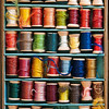 """Palette of Threads""<br /> 3rd Place, Color Prints category, August 2013 SVCC Photo Competition<br /> County Museum – Barnwell, South Carolina"