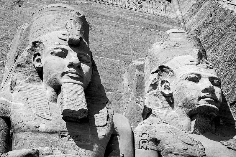 """Ramses II and Nefertari at Abu Simbel"""